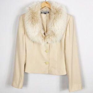 J. Percy for Marvin Richards   Fox Fur Wool Jacket
